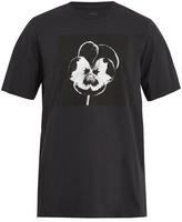 Oamc Night Flower-print cotton-jersey T-shirt