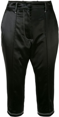 Marine Serre Tailored Cropped Trousers