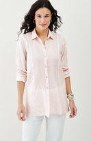 J. Jill Soft Stripes Linen Tunic