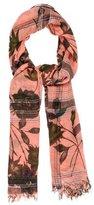 Etro Floral Cashmere-Blend Scarf