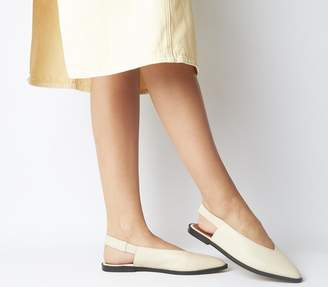 Office Forte Point Slingback Shoes Off White Leather
