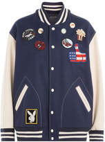 Marc Jacobs Wool Blend Bomber Jacket with Patches