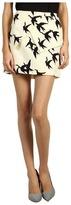 Tibi Palmoma on Silk Wool Skirt (Ivory Multi) - Apparel