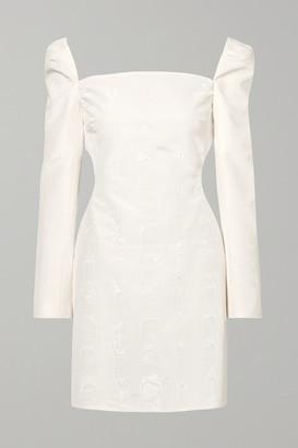 Ellery Pallen Cotton-blend Moire Mini Dress - Ivory