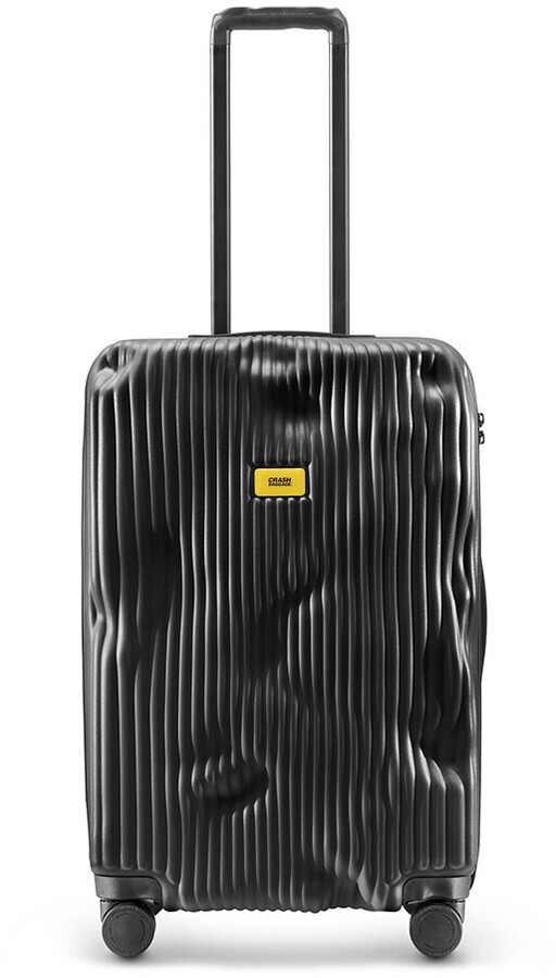 CRASH BAGGAGE Stripe Suitcase - Black - Medium