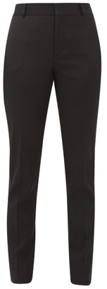 Saint Laurent Slim-cut Wool-crepe Tuxedo Trousers - Black