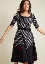 Collectif Pinup Personality Fit and Flare Midi Dress in S