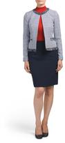 Petite Tweed Skirt Suit