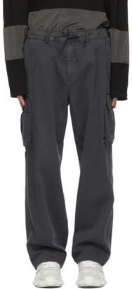 Juun.J Grey Twill Cargo Pants