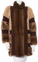 Missoni Mink Cable Knit-Trimmed Coat