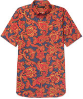Alexander Mcqueen - Button-down Collar Paisley-print Cotton Shirt
