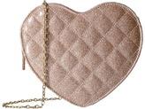 Jessica McClintock Quilted Heart Shoulder Bag Shoulder Handbags