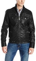 X-Ray Men's Slim Fit Faux-Leather Jacket