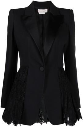 Alexander McQueen Lace-Panelled Blazer