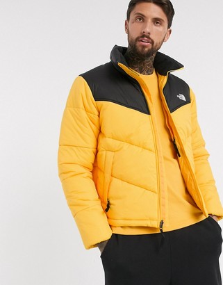 The North Face Saikuru puffer jacket in yellow