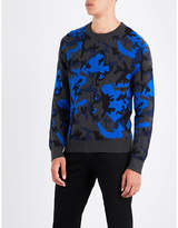 Sandro Camouflage-patterned Knitted Jumper