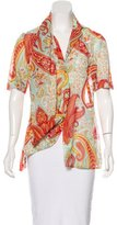 Vivienne Westwood Draped Printed Top