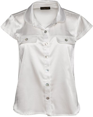 Conquista Ecru Cap Sleeve Shirt