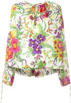 Balenciaga Slide floral blouse - women - Silk/Polyamide - 34
