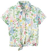 Carter's Toddler Girl Floral Button-Down & Tie Front Top