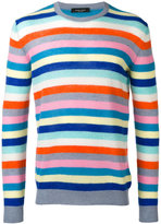 Roberto Collina striped crew jumper - men - Cashmere - 50