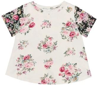 Zimmermann Kids Floral cotton T-shirt
