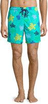Vilebrequin Moorea Multicolored Turtle-Print Swim Trunks