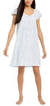 Miss Elaine Printed Silky Knit Nightgown