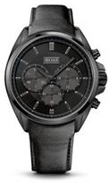 Hugo Boss 1513061 Chronograph Black Leather Strap Driver Watch One Size Assorted-Pre-Pack