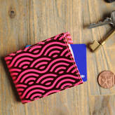 Undercover Recycled Leather Wave Oyster Card Holder