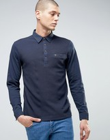 Farah Lester Logo Long Sleeve Polo Shirt