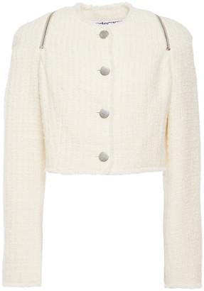 Alexander Wang Zip-detailed Tweed Jacket