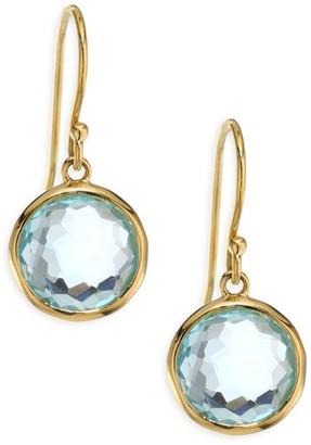 Ippolita Lollipop Small 18K Yellow Gold & Blue Topaz Drop Earrings
