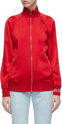 Moncler Logo cuff stripe sleeve raglan track jacket