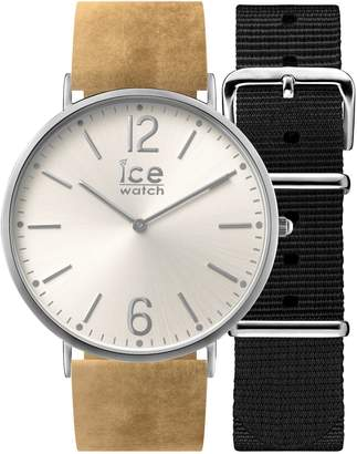 Ice Watch Ice-Watch - CITY Belfast - Women's wristwatch with leather strap + extra nylon strap - 001388 (Small)