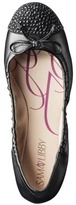Sam & Libby Women's Brynn Sparkle Cap Toe Ballet Flat - Black