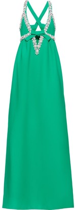 Miu Miu Long Embellished Cady Dress