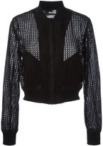 Love Moschino perforated bomber jacket