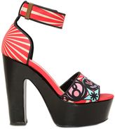 Nicholas Kirkwood 120mm Printed Satin Sandals