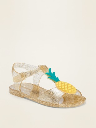 Old Navy Jelly T-Strap Sandals for Toddler Girls