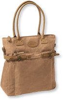 L.L. Bean Mountain Town Waxed Canvas Shoulder Bag