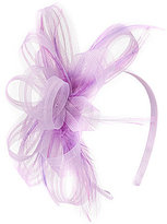 Copper Key Girls Princess Fascinator Feather Satin Headband