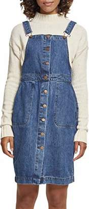Urban Classic Women's Ladies Denim Dungarees Dress Skirt, Ocean Blue 00830, M