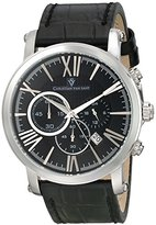 Christian Van Sant Men's CV8320 Mister Stainless Steel Watch with Faux-Leather Band