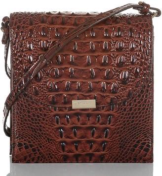 Brahmin Kimmie Croc Embossed Leather Crossbody Bag