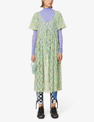 Collina Strada Princess Mariposa floral-print stretch-mesh midi dress