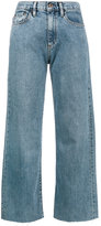 Simon Miller Blue High Waisted wide leg cropped jeans