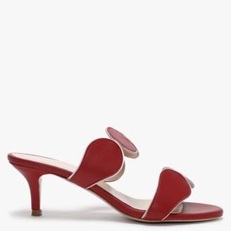 Daniel Pollie Red Leather High Heel Sandals