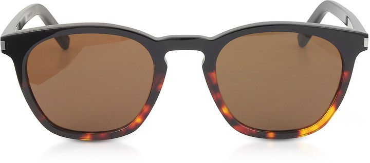 Saint Laurent SL 28 Two-Tone Acetate Frame Sunglasses