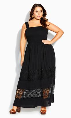 City Chic By The Beach Maxi Dress - black